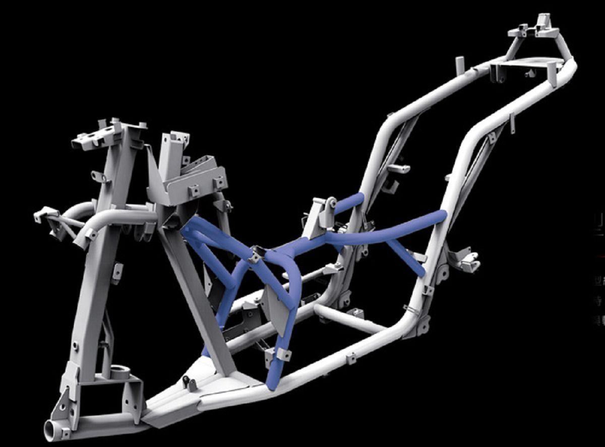 源自於赛道的全新笼形结构高刚性车体,可有效降低及分散动力与转向g力