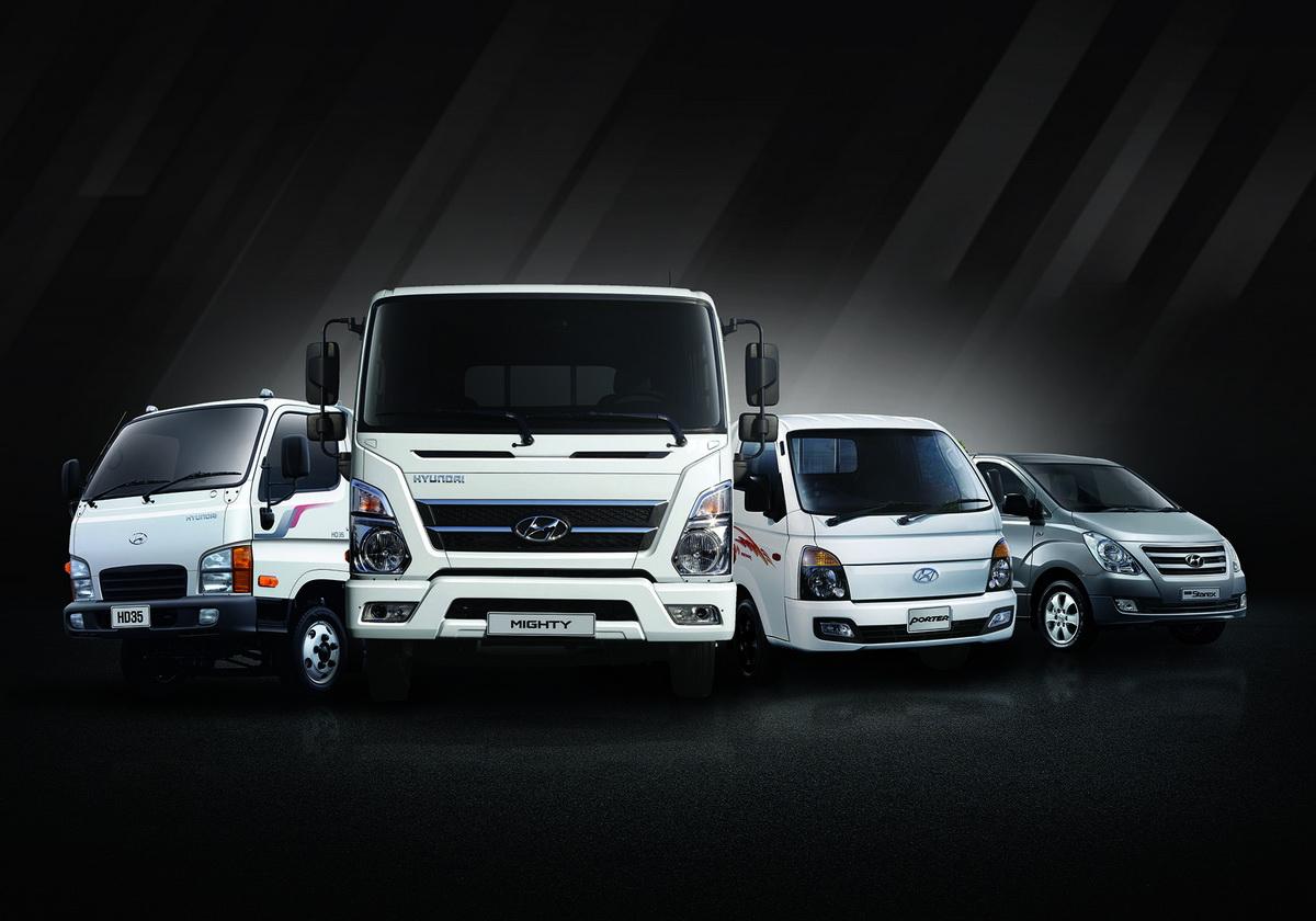現代商用車事業全產品線(左起HD35、MIGHTY、PORTER、STAREX).jpg