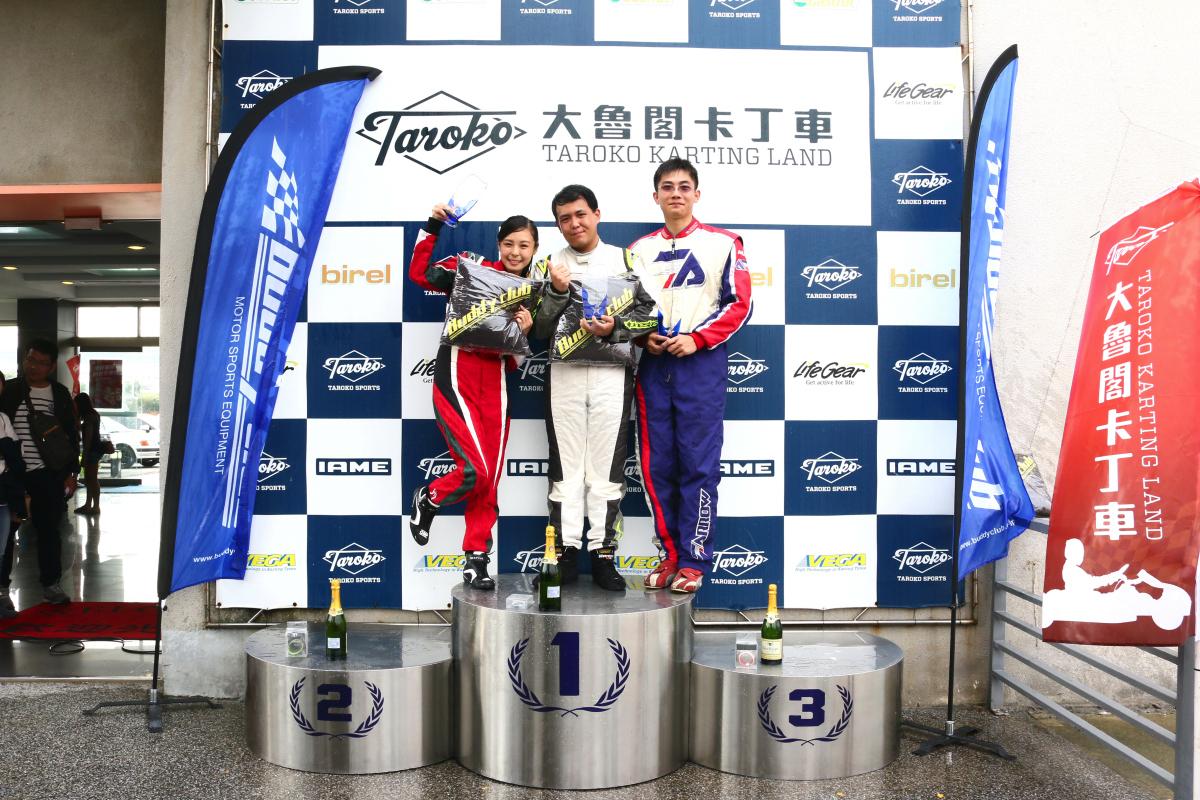 Yamaha SL卡丁車錦標賽首站賽事落幕,新手組前三名則是劉銓、Iris與卯志祥.JPG