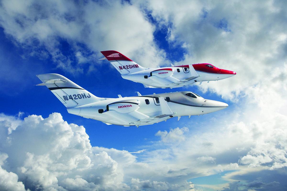 1st and 3rd FAA-Conforming HondaJet Formation Flight 1.jpg