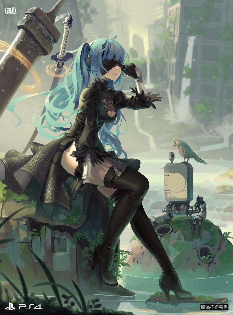 PS4背景主題「小藍尼爾」下載卡.jpg